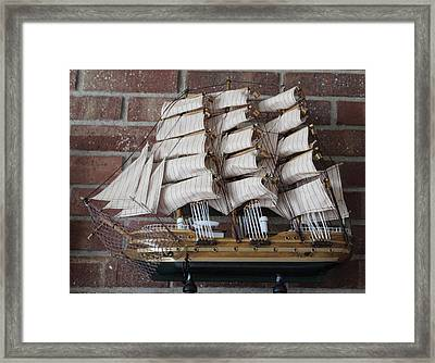 Framed Print featuring the photograph Sailing Ship by John Mathews