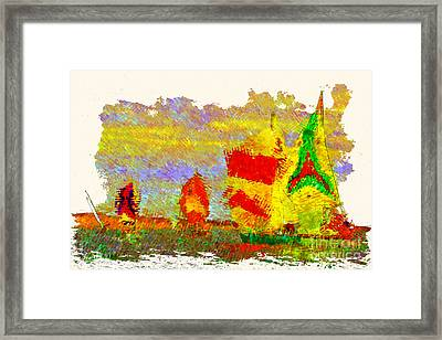 Framed Print featuring the photograph Sailing Spinners by Julie Lueders
