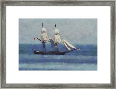 Sailing The Blue Sea Framed Print by Dan Sproul