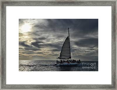 Sailing The Caribbean Framed Print