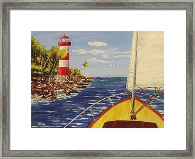 Sailing The Coast Framed Print