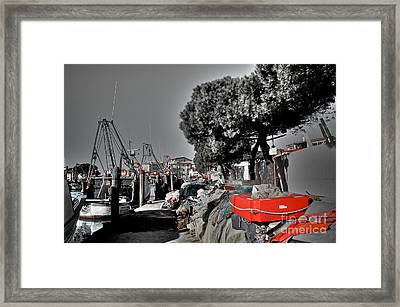 Sailing The Colours Framed Print