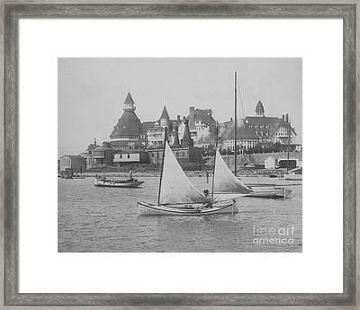 Sailing The Del Bw Framed Print