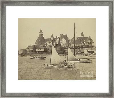 Sailing The Del Framed Print