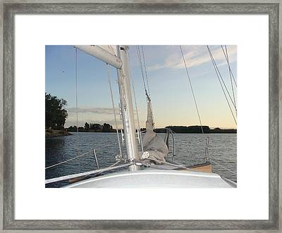Sailing The Delta Framed Print by Dee  Savage