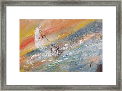 Sailing The Horizon  Framed Print