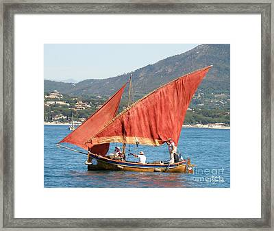 Sailing The Mediterranean Framed Print by Lainie Wrightson
