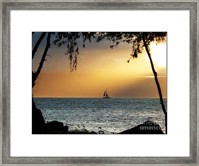Sailing The Ocean Blue Framed Print