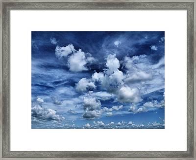 Sailing The Ocean Blue Framed Print by Tom Druin