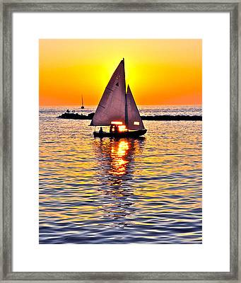 Sailing The Seven Seas Framed Print by Frozen in Time Fine Art Photography