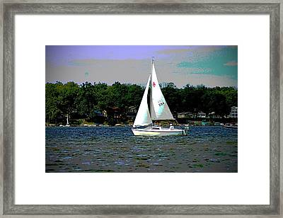 Sailing Framed Print by Thomas Fouch