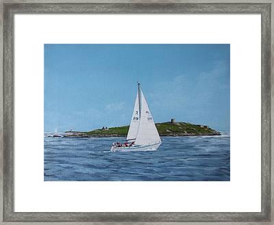 Sailing Through Dalkey Sound Framed Print by Tony Gunning