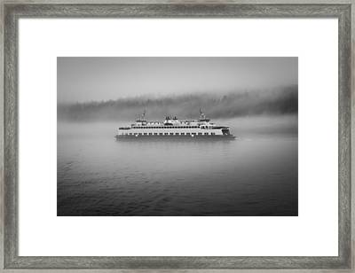 Sailing Through The Fog Framed Print