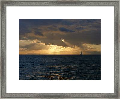 Sailing Through The Life Framed Print by Alessio Casula