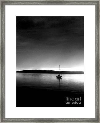 Sailing Through The Light Framed Print by Allyson Andrewz