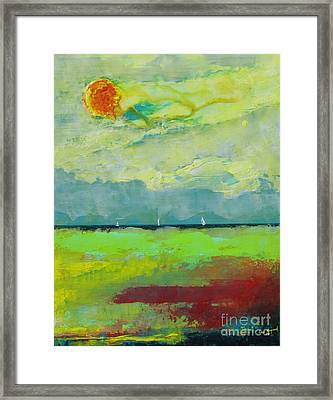 Sailing Thru Color Framed Print