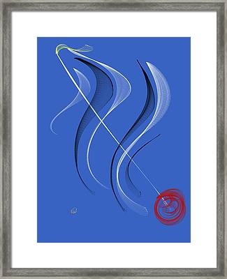 Sailing To The Rhythm Of Music Framed Print by Angela A Stanton