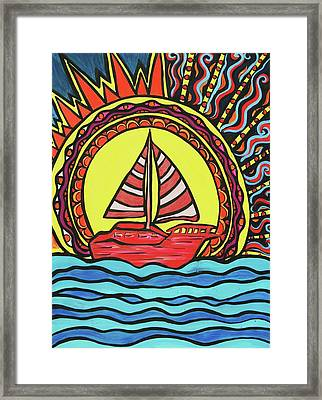 Sailing To The Sun Framed Print by Lorinda Fore