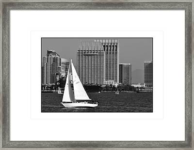 Framed Print featuring the digital art Sailing To Work by Kirt Tisdale