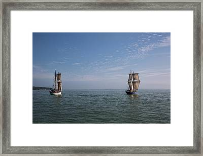 Sailing Together Framed Print by Dale Kincaid
