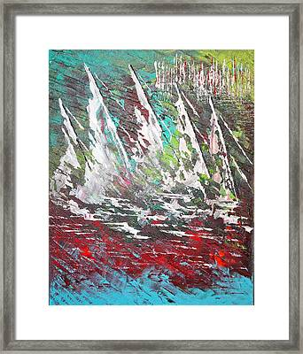 Sailing Together - Sold Framed Print