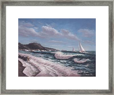 Sailing Toward Point Lobos Framed Print