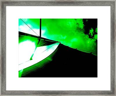 Sailing Under Alien Skies Framed Print by Amy Manley