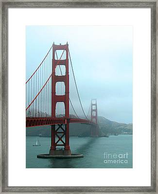 Sailing Under The Golden Gate Bridge Framed Print