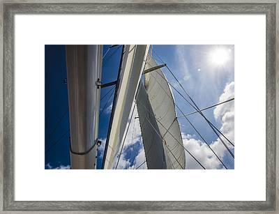 Sailing's Perfect Breeze  Framed Print