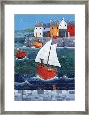 Sailor Dog Framed Print by Peter Adderley