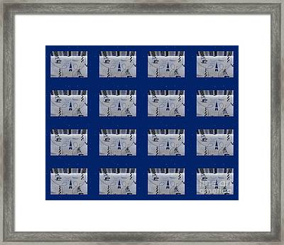 Nautical Quilt With Blue Sashing Framed Print by Barbara Griffin