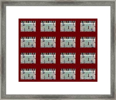 Nautical Quilt With Red Sashing Framed Print by Barbara Griffin