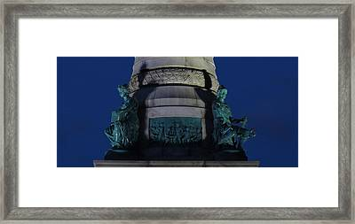 Sailors And Soldiers Monument By Night Framed Print by Stephen Melcher