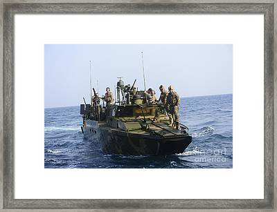 Sailors Conduct Patrol Operations Framed Print by Stocktrek Images