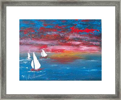 Sailor's Delight Framed Print by Margie Ridenour