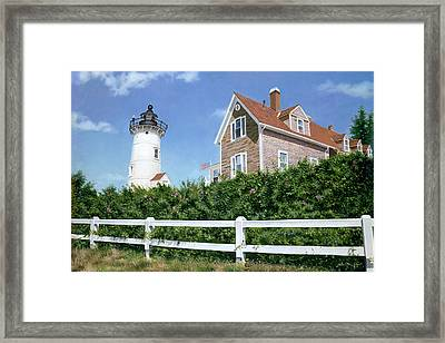 Sailors Gift - Nobska Lighthouse Framed Print by Julia O'Malley-Keyes
