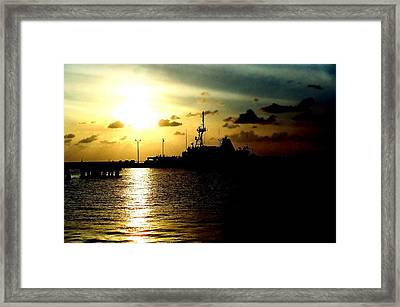Sailors Morning Framed Print by Amy Sorrell