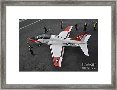 Sailors Perform Pre-flight Checks Framed Print by Stocktrek Images