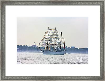 Sailors Standing On Masts Framed Print