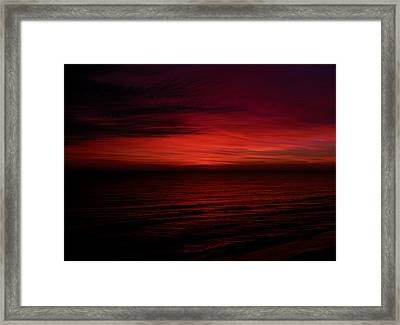Sailors Take Warning Framed Print
