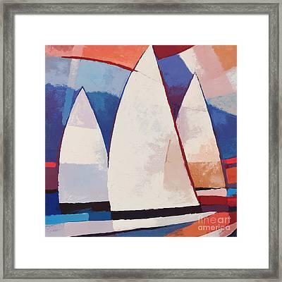 Sails Ahead Graphic Framed Print by Lutz Baar