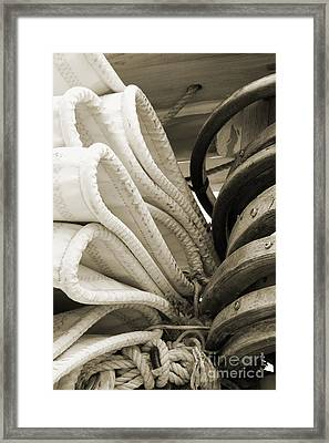 Sails And Mast 2 Framed Print