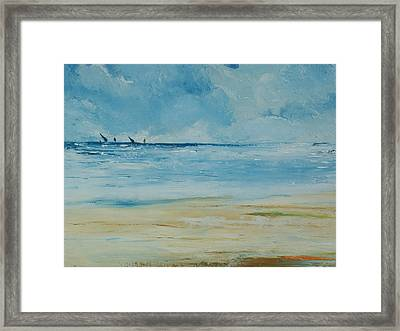 Sails Beyond The Reef Framed Print by Conor Murphy
