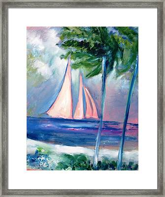 Sails In The Sunset Framed Print by Patricia Taylor