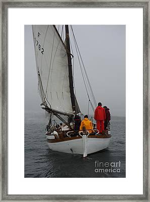 Sails Into  Fog Framed Print