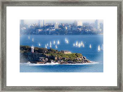 Framed Print featuring the photograph Sails Out To Play by Miroslava Jurcik