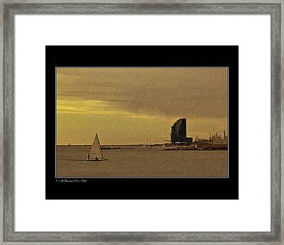 Framed Print featuring the photograph Sails by Pedro L Gili