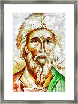 Saint Andrew  Framed Print by Daliana Pacuraru