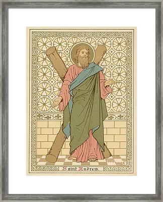 Saint Andrew Framed Print by English School