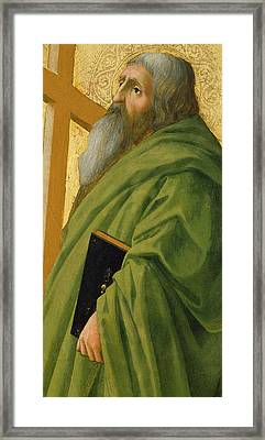 Saint Andrew Framed Print by Tommaso Masaccio